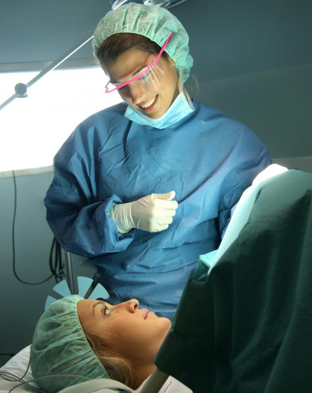 Using a regional anesthesia allows the patient to remain awake during the procedure.