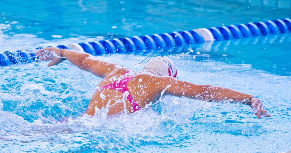 Face-down strokes are commonly used when swimming laps.