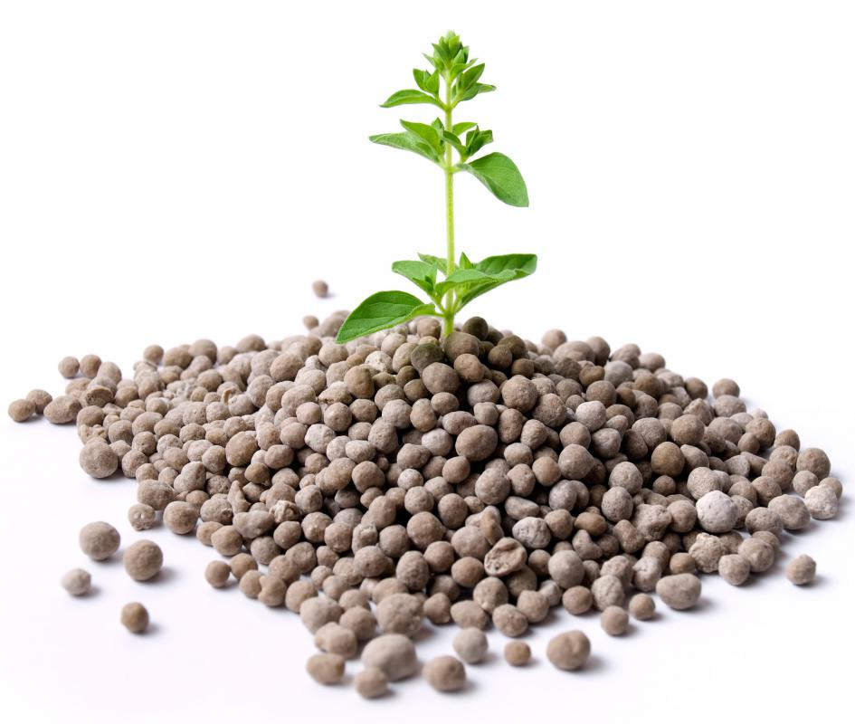 Nitrogen fertilizer is used to enhance plant growth.