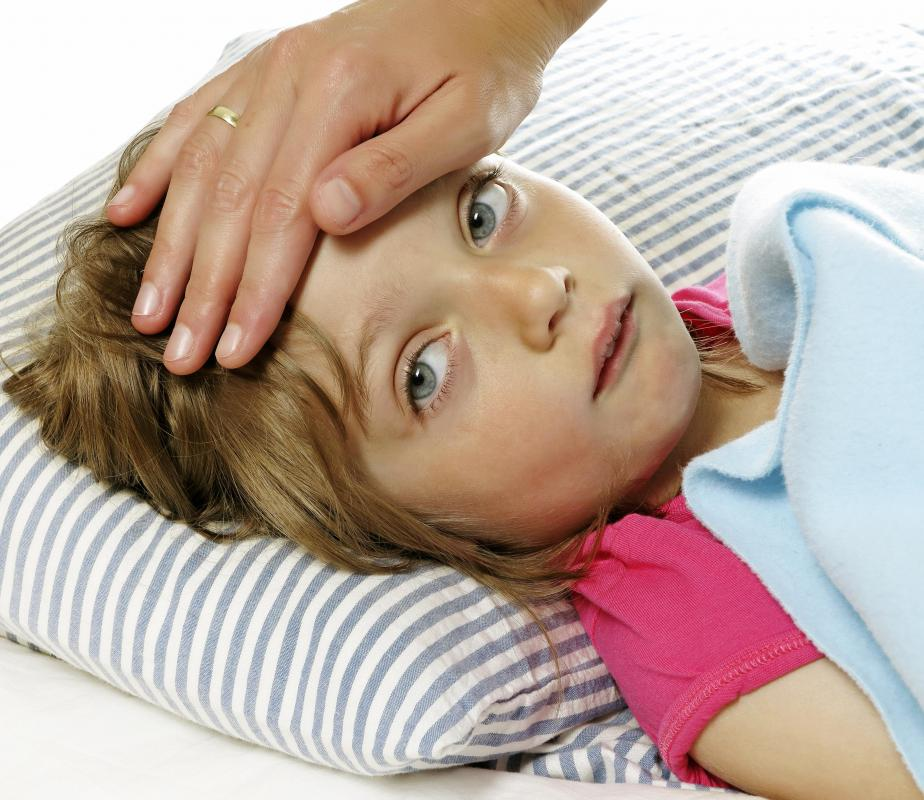 A high fever may cause a child to hallucinate.