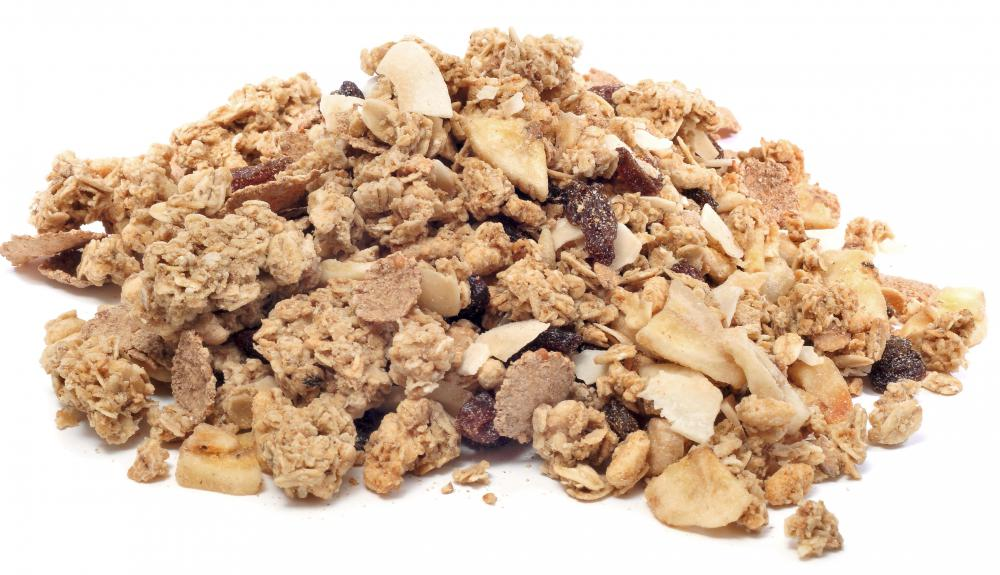 Granola is sometimes used to top yogurt.