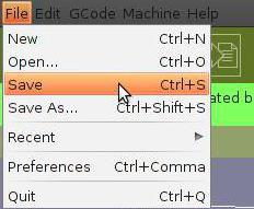 Hitting Crtl + S saves a file the same way it would using the drop down menu.