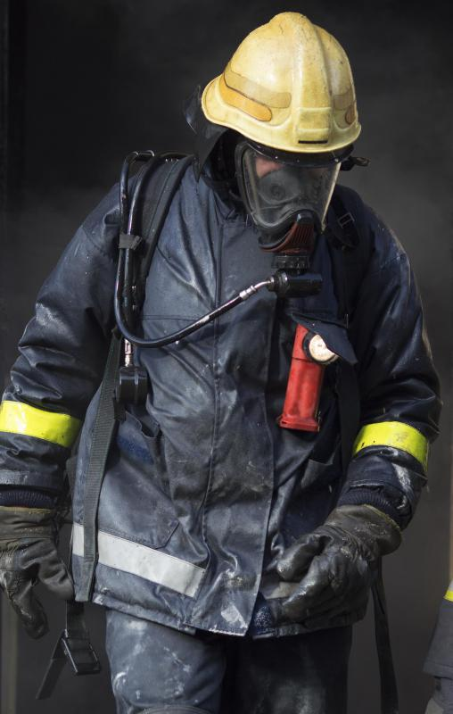 Cotton is often used by firefighters, who can coat it with flame-retardant substances.
