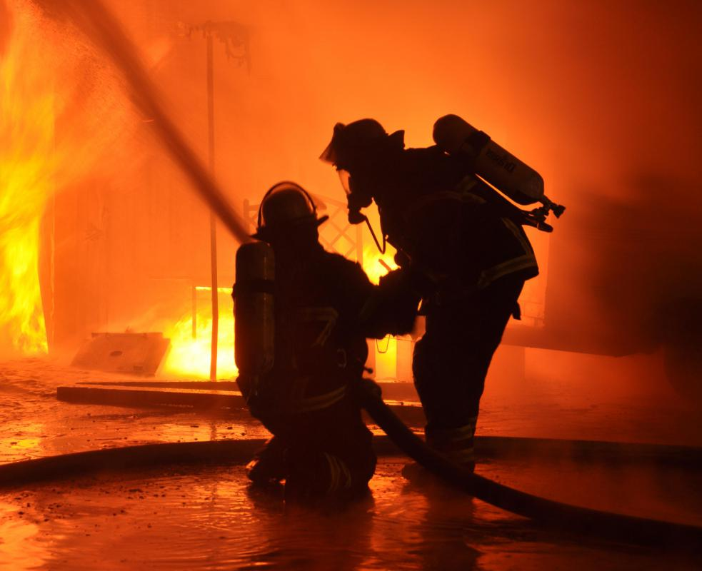 Firefighters must possess excellent vision and hearing.
