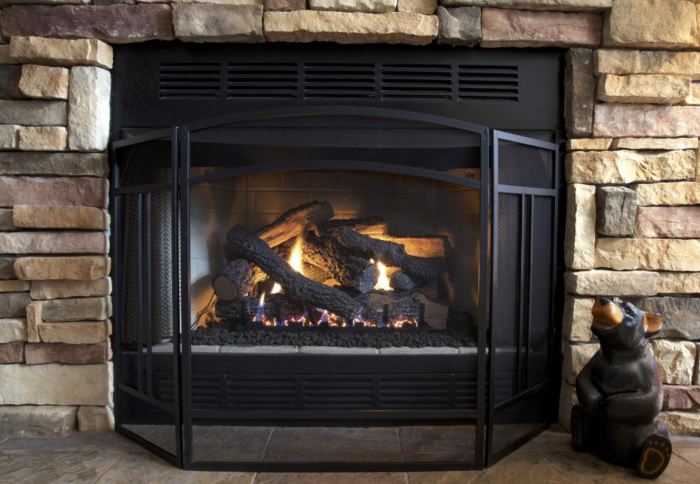 Most prefab fireplaces burn manufactured gas logs.