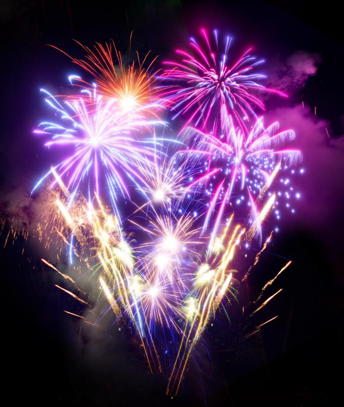 Many countries celebrate their independence with fireworks.