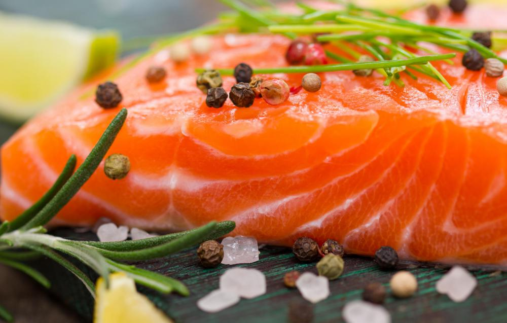 Salmon is rich in magnesium.