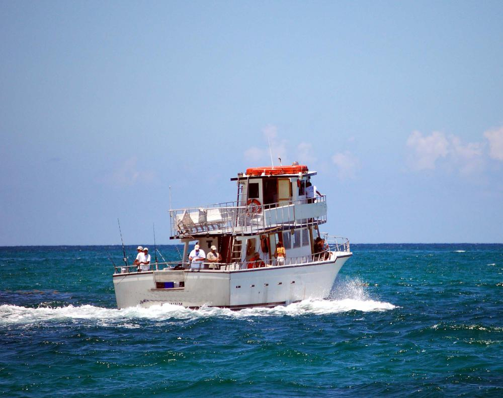 Walkaround boats are typically used in offshore fishing.