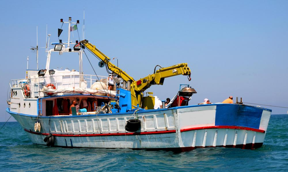 Advice from other commercial fishermen can help when it comes to equipment likes cranes and hoists.