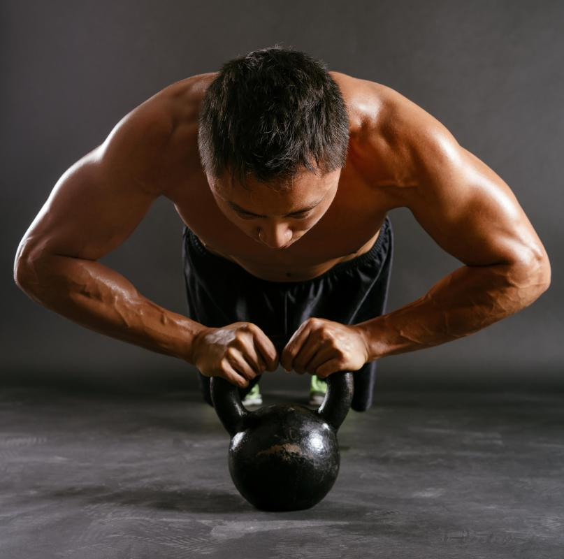 Instructional DVDs should demonstrate the different moves involved in a kettlebell workout.