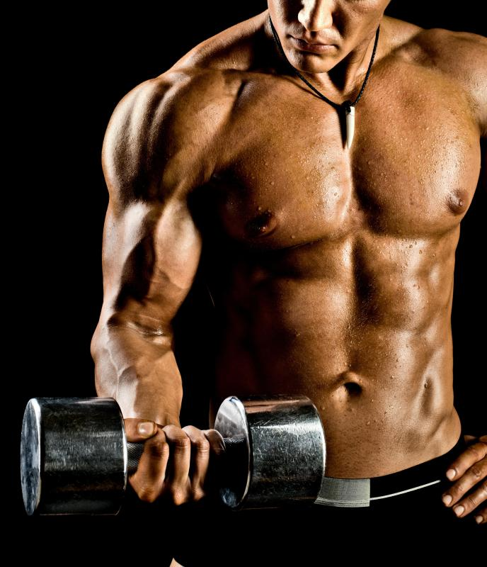 Dumbbell curls are a popular exercise for building up and toning the biceps.