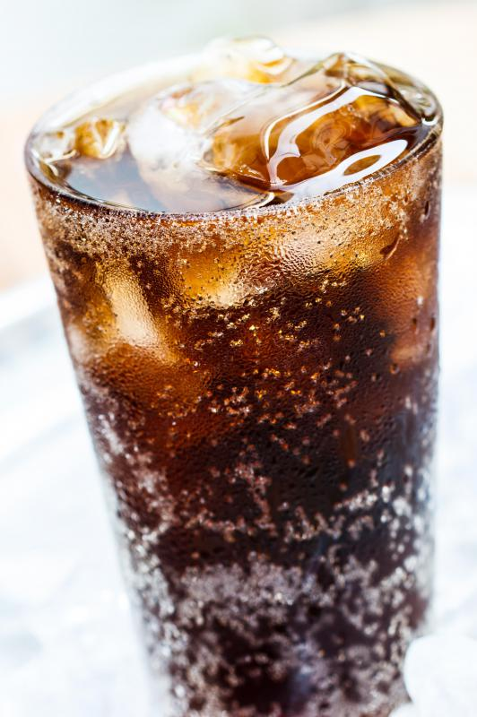 Sodas typically contain caffeine.