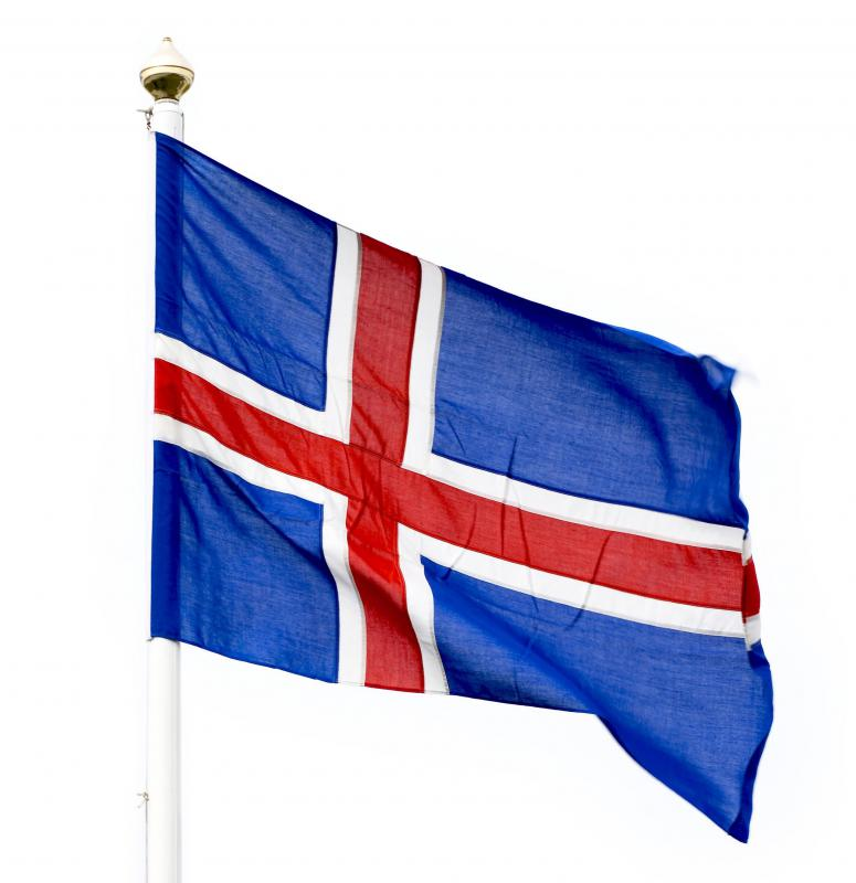 The flag of Iceland, where skyr was first made.