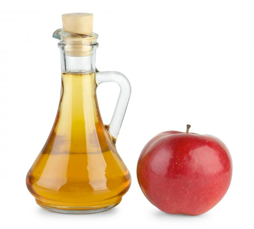 Apple cider vinegar can be used in a facial scrub.