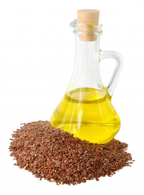 Flax seed oil is high in omega 3 and omega 6 fatty acids.