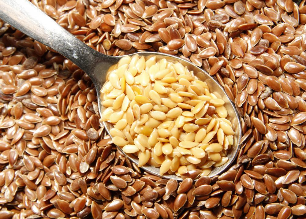 Flax seeds are high in fiber.