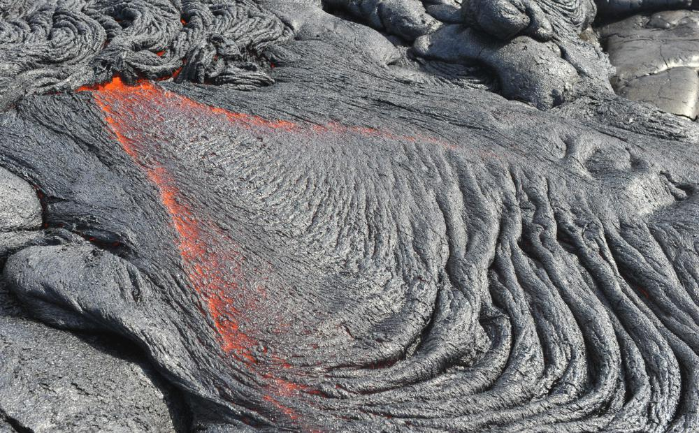 When lava mixes with tephra, it creates pumice.