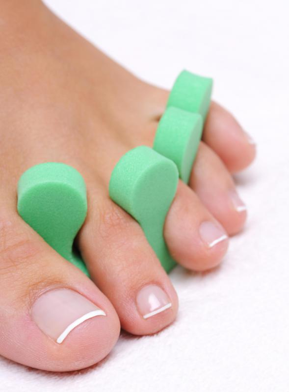 Foam toe separators are great at keeping pedicures tidy.