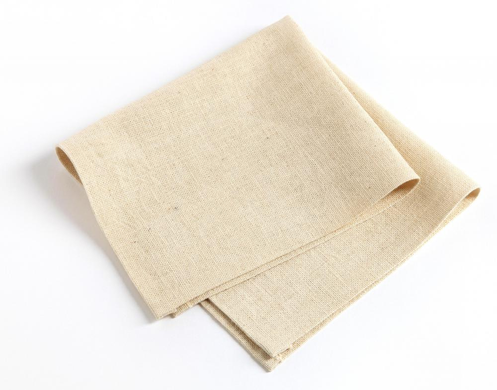 A folded square of linen.