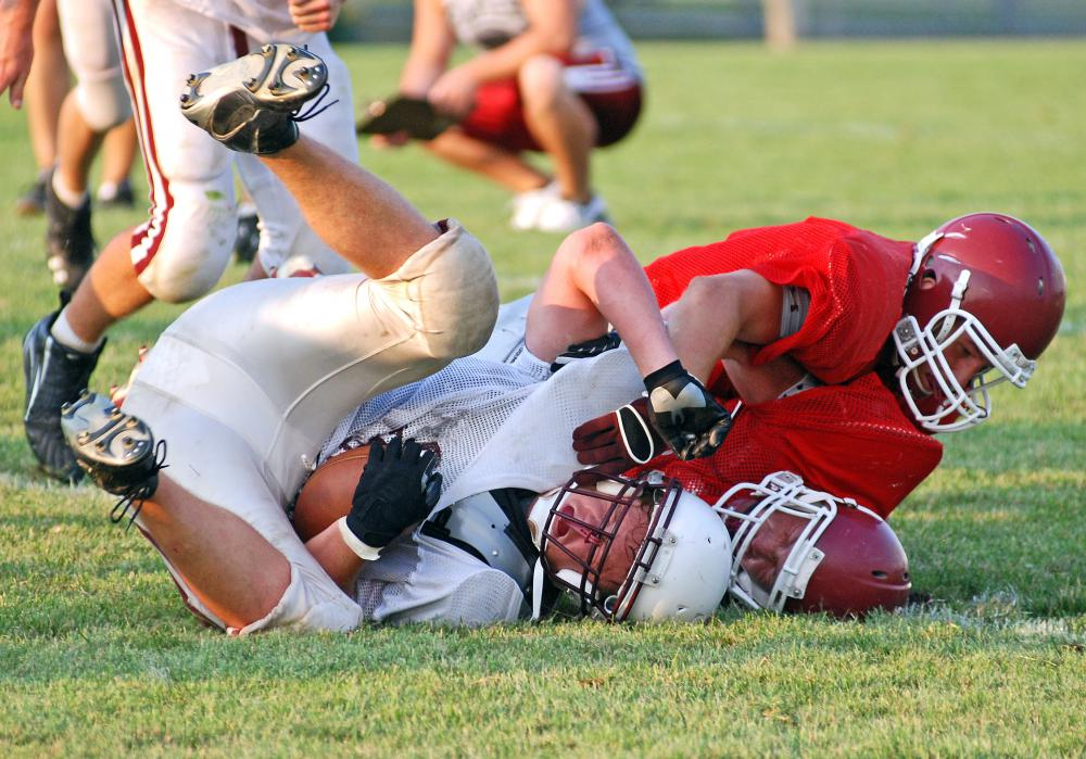 Getting tackled from behind can cause an injury to a football player's acetabular labrum.