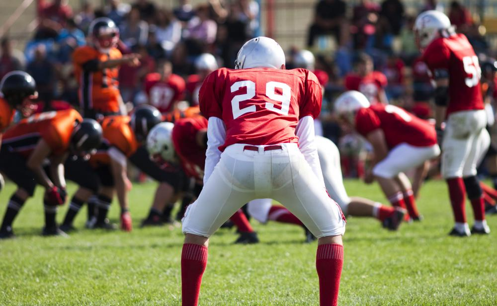 Football players commonly experience ligament damage.
