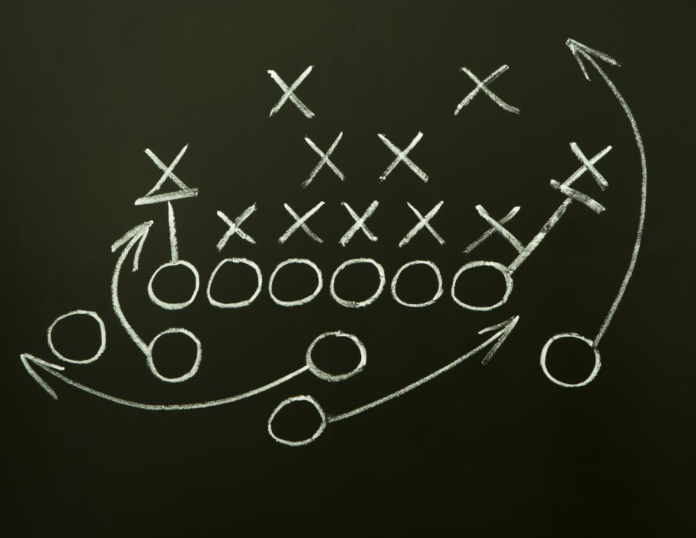 Chalk is commonly used to mark on blackboards, such as for planning football plays.