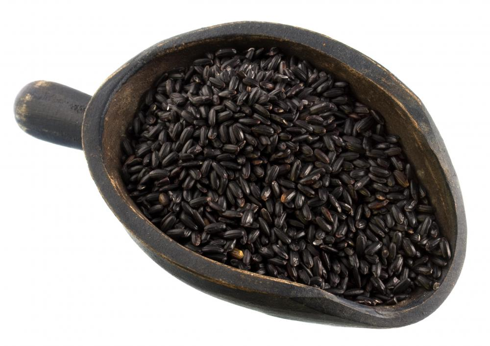 Coconut cooking oil is often used in rice salad made with Thai black rice.