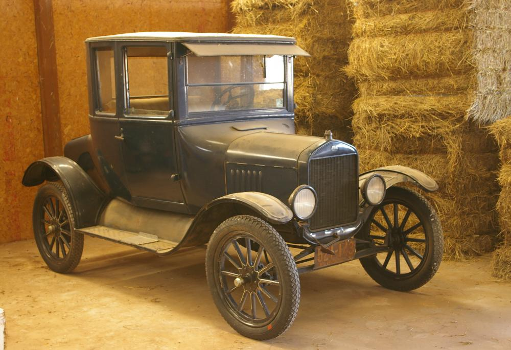 A T-Bucket hot rod is made from a Ford Model T, which can be extremely difficult to come by.