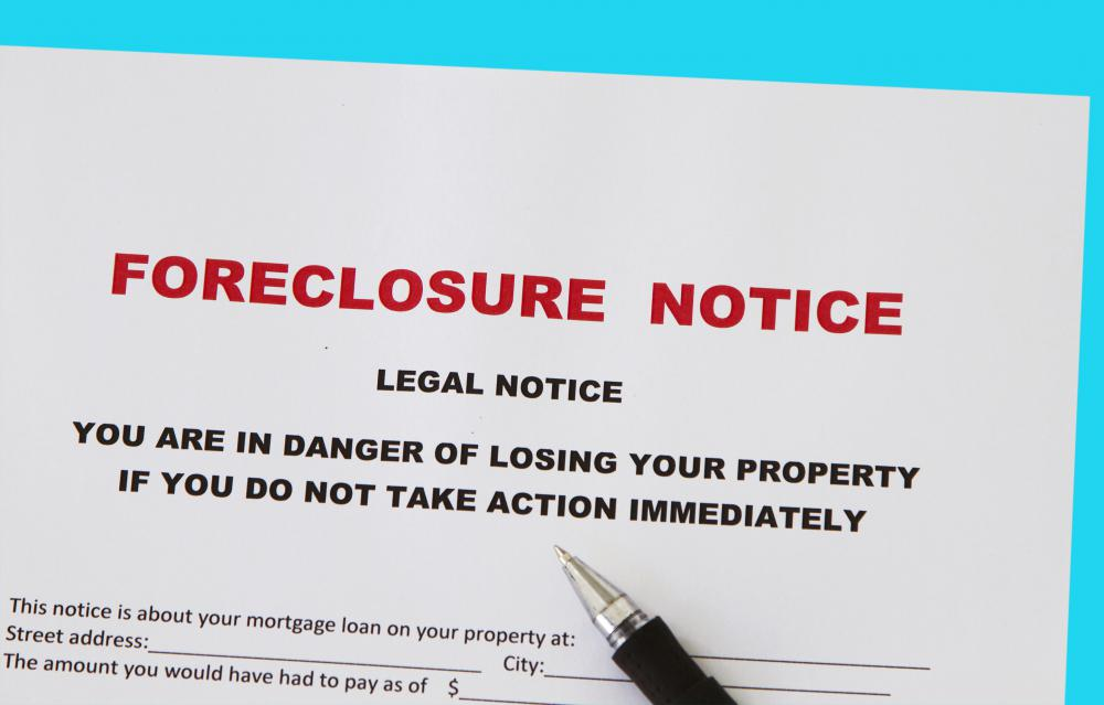 Individuals who fail to make mortgage payments in a timely manner may be subject to foreclosure.