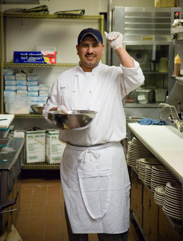 a line cook a mid level chef who oversees a specific area of the kitchen