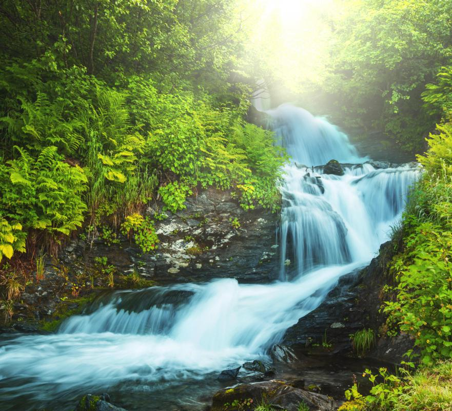 Homes near streams and rivers can be powered with hydro-electricity.
