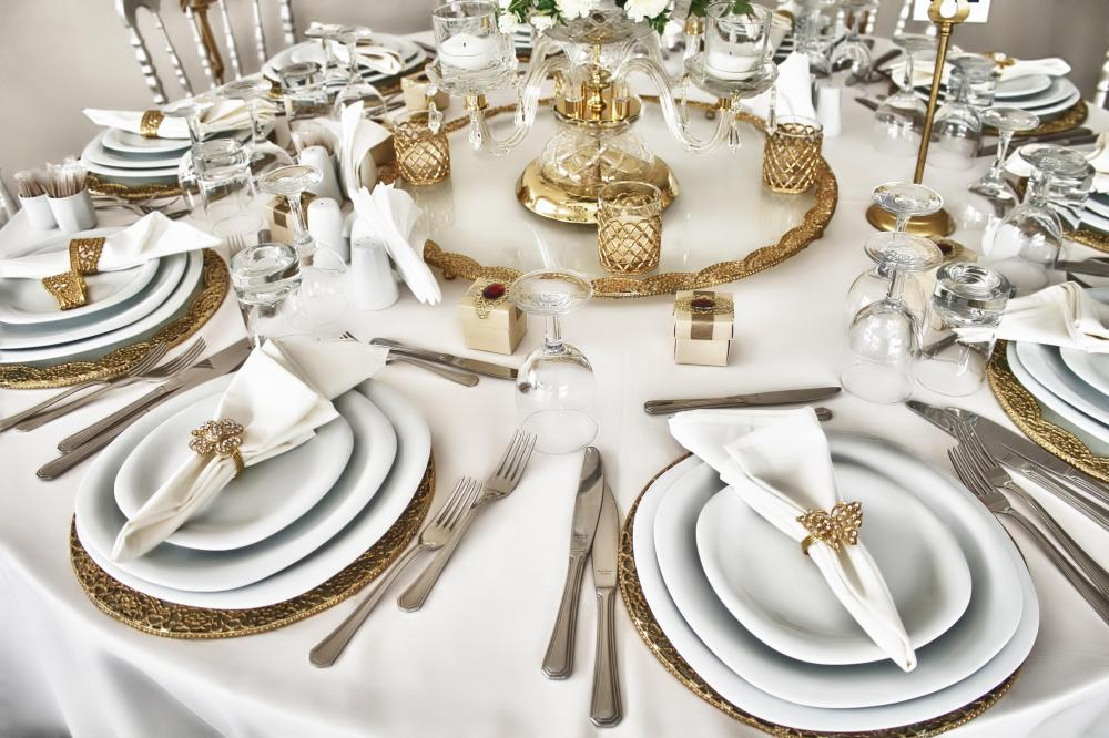 For a formal dinner, the table is typically set a particular way.
