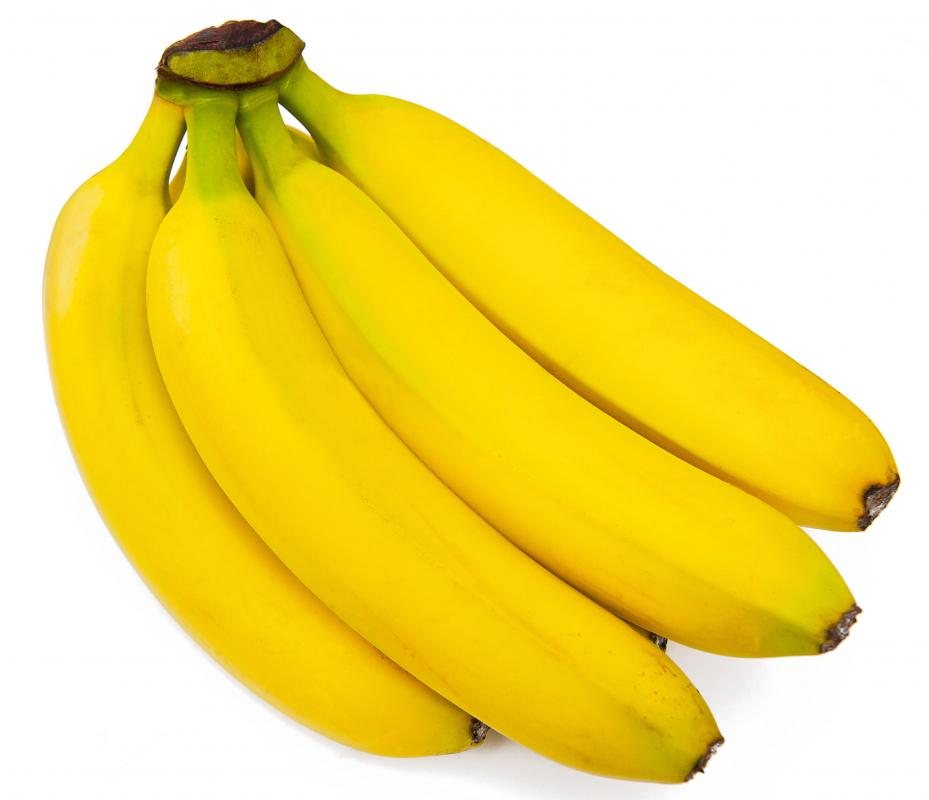 Bananas, a good source of soluble fiber.