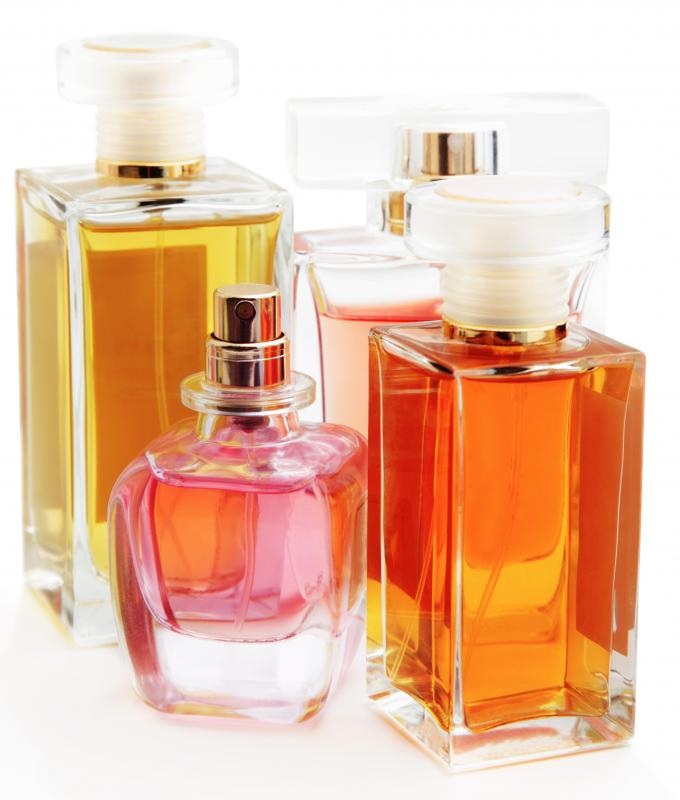 Many perfumes contain acetone, which is the active ingredient in commercial polish removers.