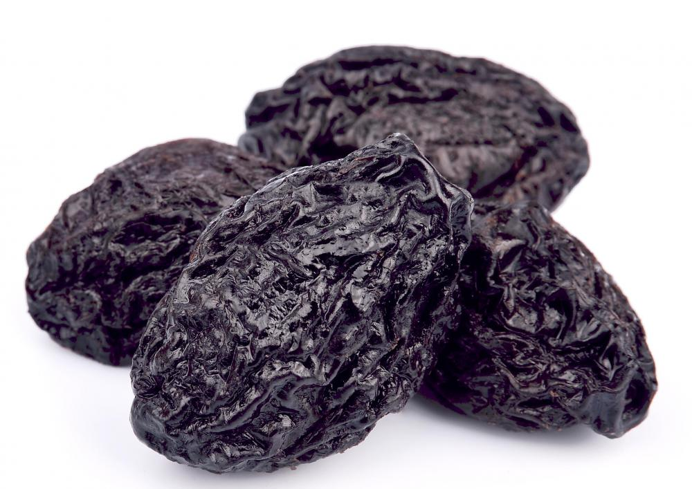Dried plums are well-known for their high fiber content.