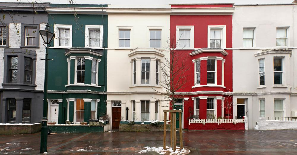 Row Houses Are Characterized By Consistent Architecture And Design