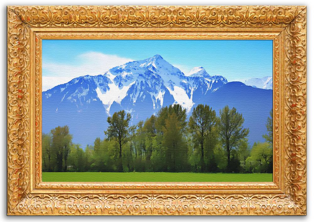 Choose a frame that enhances the art inside it.