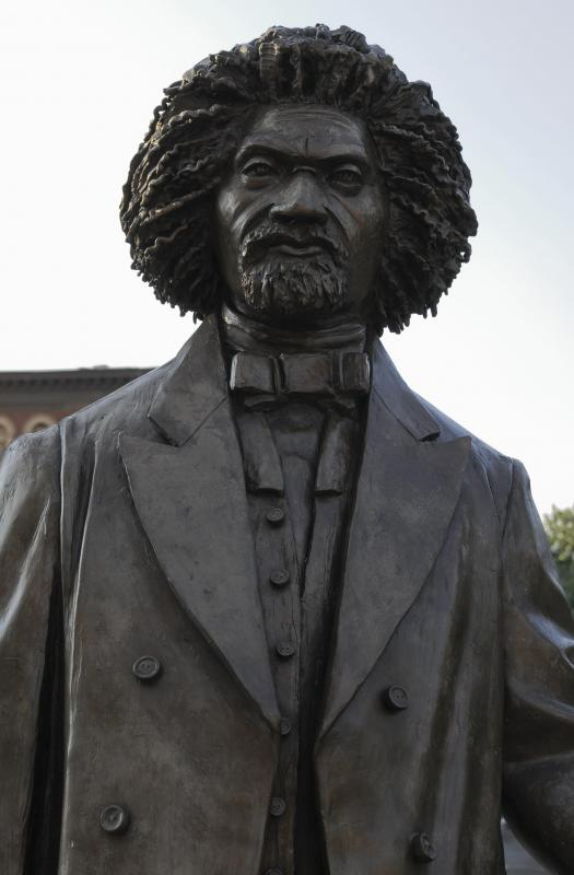 There is a statute of Frederick Douglass in New York City, where he fled to from Maryland to escape slavery.