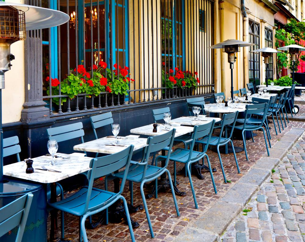 Bistro tables are small, which might make them ideal for porches with little space.