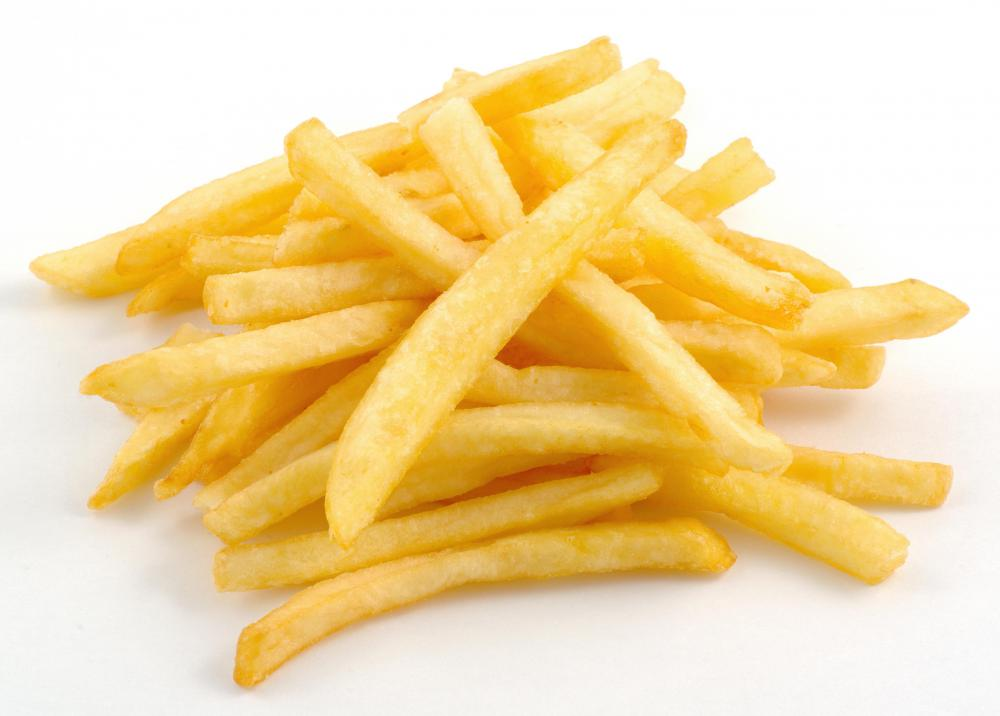 French fries, which are deep fried.