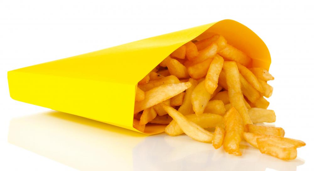 French fries can cause grease stains.
