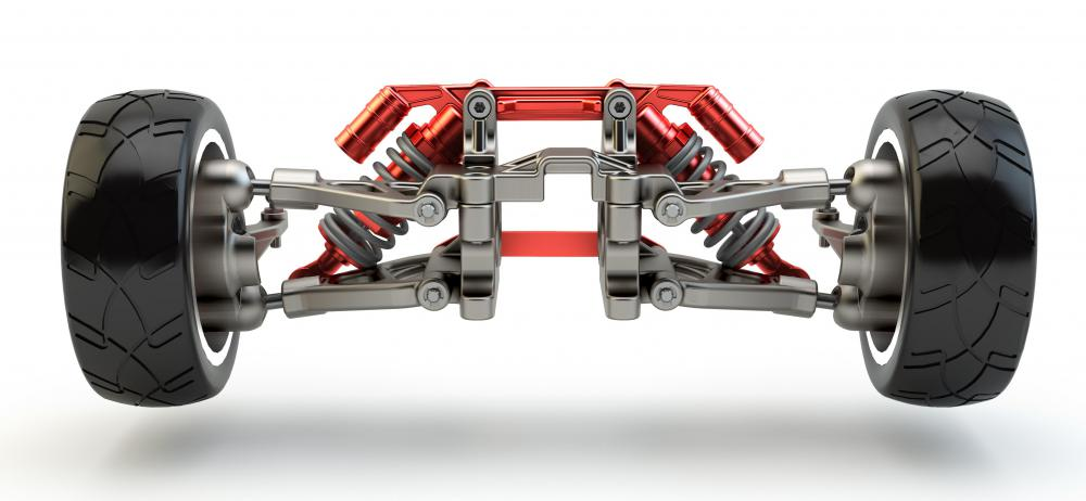 Axles rotate as the drivetrain turns, which make the vehicles wheels move.