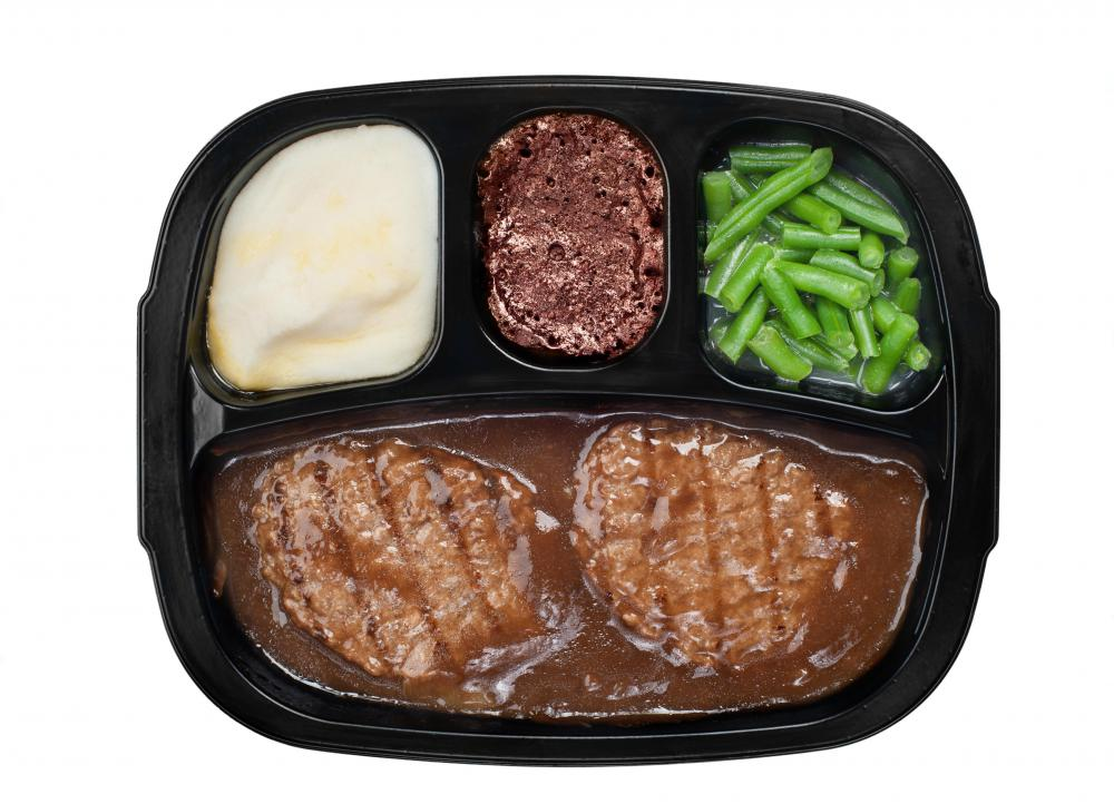 Many people bring frozen dinners to eat for lunch at work or school.
