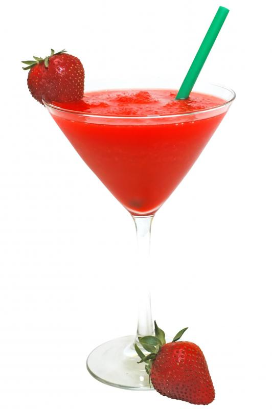 Frozen daiquiris are commonly made from strawberries.