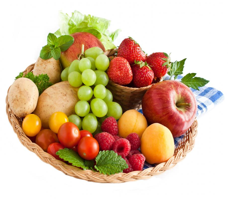 People of fruit diets can also eat a few raw vegetables.