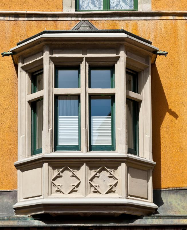 If a bay window is located on a second floor, additional supports may be needed.