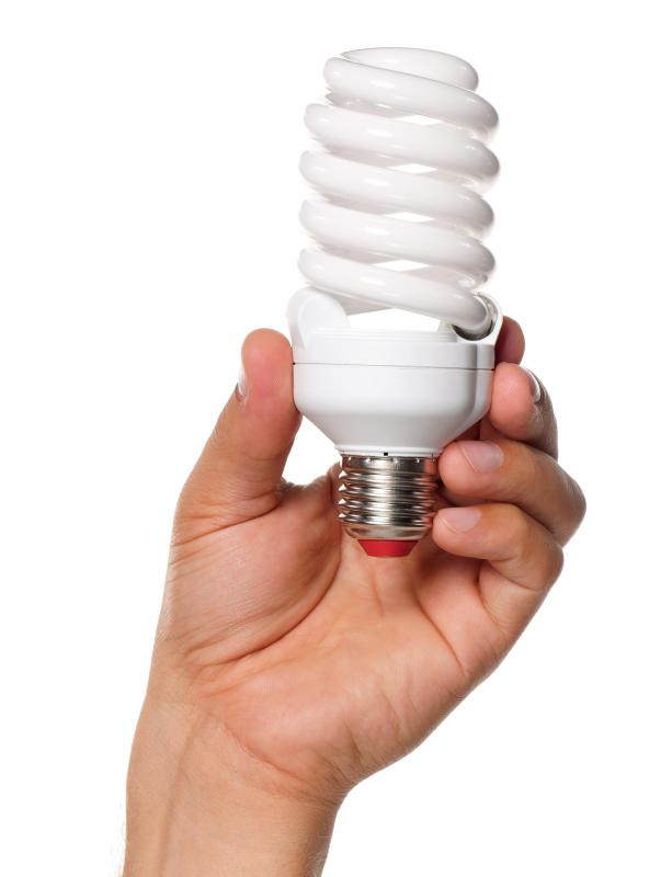 Energy efficient light bulbs will help conserve energy.