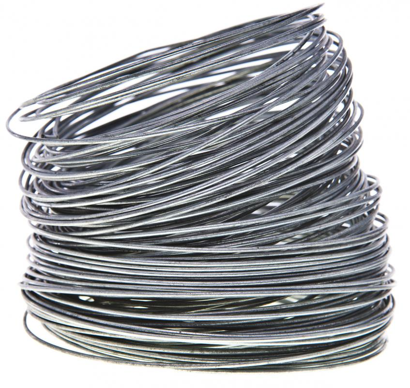 Galvanized steel wire is often used for making a woven, chain link fence.
