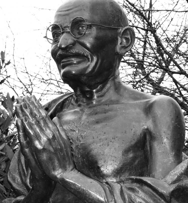 India's Mahatma Gandhi often wore a dhoti.