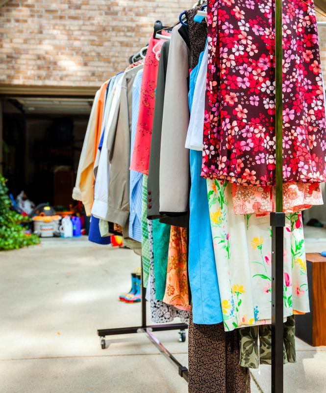 Yard sales typically take place in front of a person's home.